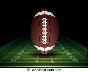 campo, futebol americano, ilustração