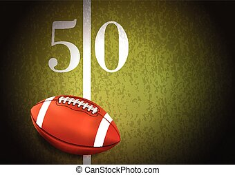 campo, futebol americano, ilustração, relvar