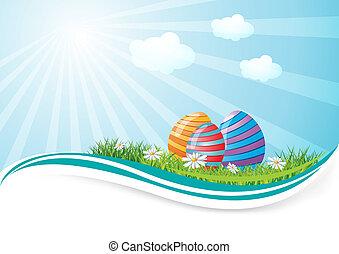 campo, ovos, páscoa