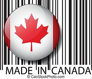 canadá, barcode., feito, vetorial, ilustração