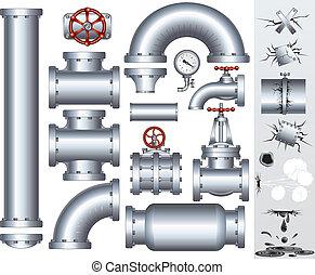 canalização, industrial