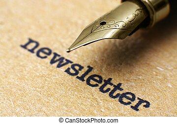 caneta, newsletter