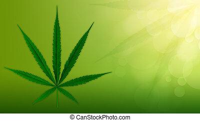 cannabis, fundo, verde, marijuana, leaves.