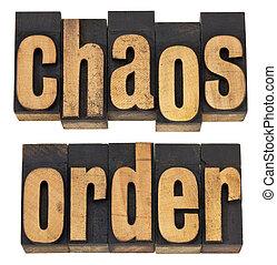 caos, ordem