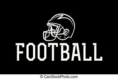 capacete, futebol americano, ilustração