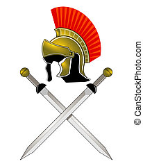 capacete, romana, espadas