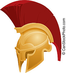 capacete, spartan, ilustração