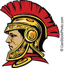 capacete, trojan, spartan, mascote