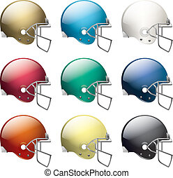capacetes, futebol americano