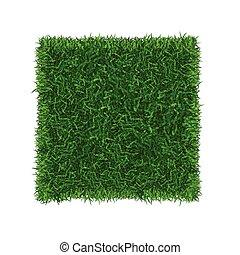capim, campo futebol americano, vetorial, verde, place., bandeira