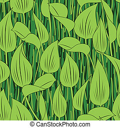 capim, folha, seamless, fundo, pântano