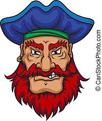 capitão, antigas, pirata