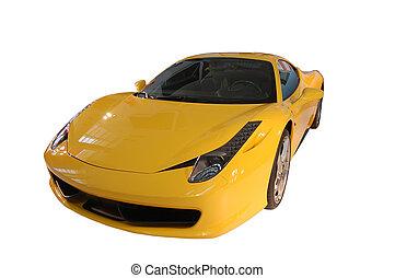 car, amarela, esportes
