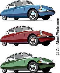 car, antiquado, francês