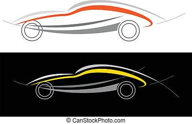 car, desporto, logotipo