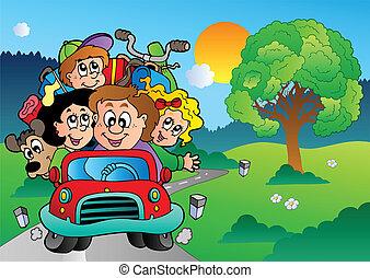 car, ir, férias, família