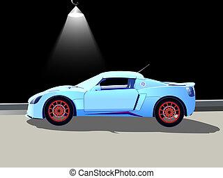 car, lâmpada, desporto, rua