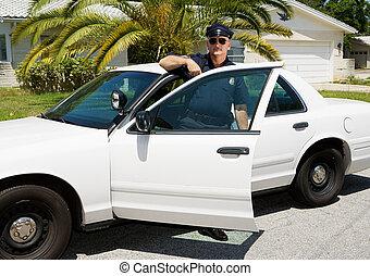 car, -, oficial, &, polícia