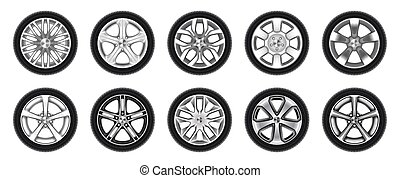 car, pneu, roda, borracha, isolado, jogo, pneumático, caminhão