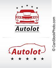 car, preto vermelho, lote, logotipo