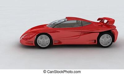 car, vermelho, conceito, esportes