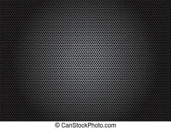carbono, material, vetorial, -, fibra