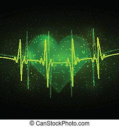 cardiograma, abstratos