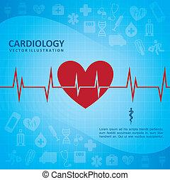 cardiologia, desenho