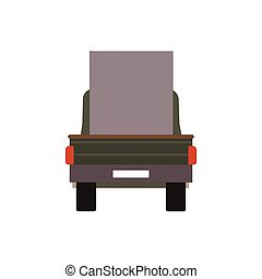 carga, comercial, isolado, ilustração, entrega, vetorial, caminhão, white., furgão