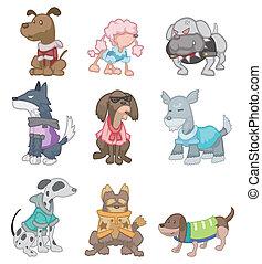 caricatura, cão