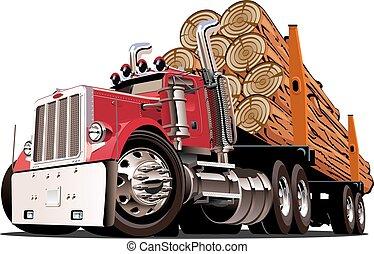caricatura, caminhão anotando