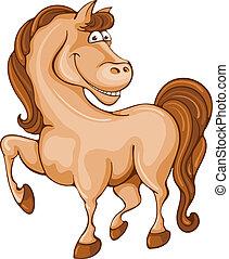 caricatura, cavalo