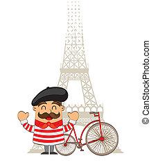 caricatura, francês