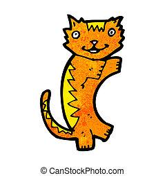 caricatura, gato gengibre