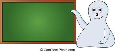 caricatura, tábua, verde