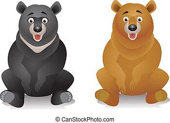 caricatura, urso
