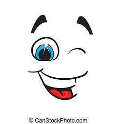 caricature., alegre, vetorial, ilustração