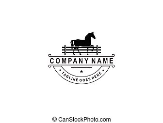 carne, desenho, etiqueta, símbolo, boiada, retro, logotipo, vindima, /, cavalo, inspiração, emblema
