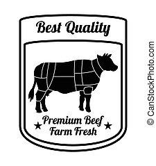 carne, fresco, fazenda, prêmio