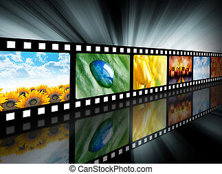 carretel filme, película, entretenimento