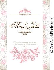 cartão, convite, casório