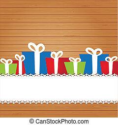 cartão, feriado, jogo, natal, elements.