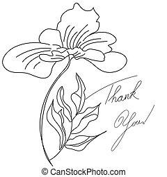 cartão, floral