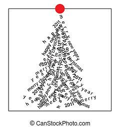 cartão, natal, (vector)