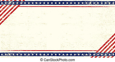 cartão postal, americano, grunge