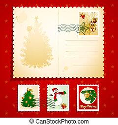 cartão postal, natal