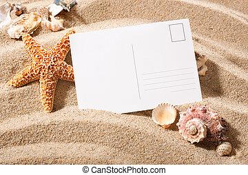 cartão postal, praia