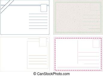 cartão postal, vectors