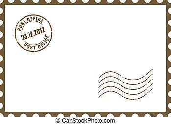 cartão postal, vetorial, em branco