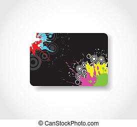cartão presente, grunge
